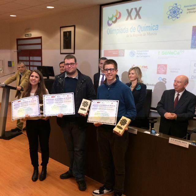 XX Olimpiada de Qu�mica de la Regi�n de Murcia, Foto 1