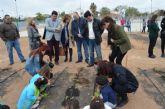 El colegio 'El Recuerdo' se suma al programa de la concejalía de Agricultura y abre el cuarto huerto escolar del municipio