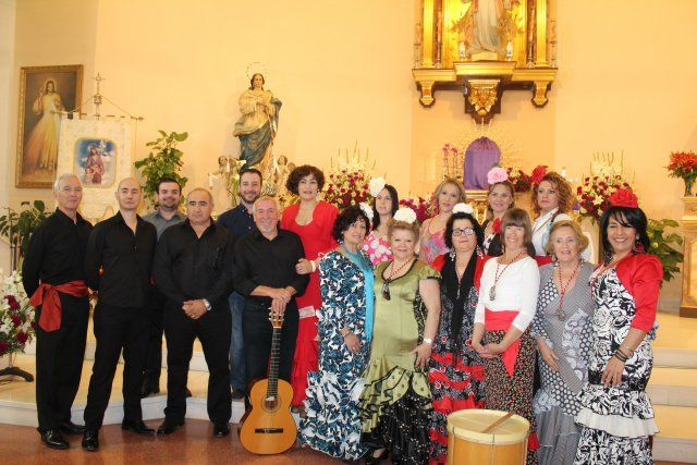 Convivencia con mayores y misa rociera, preludio del cierre de las fiestas patronales de San José, Foto 1