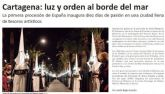 La Semana Santa de Cartagena, presente en medios de todo el país