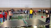 Tenis de mesa en la Semana Cultural del colegio Luis Vives de El Albujón