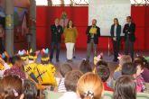 El Alcalde celebra con los alumnos el XXV aniversario del colegio Ciudad de Murcia