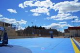 La pista polideportiva exterior del Pabellón Municipal de Alguazas, a punto
