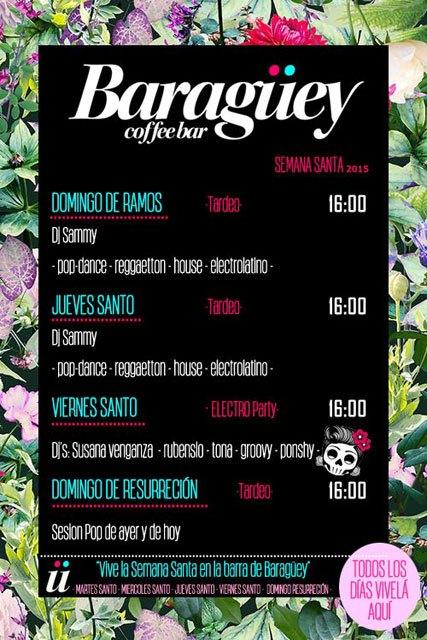 Baragüey CoffeeBar organiza varias actividades musicales durante esta Semana Santa 2015