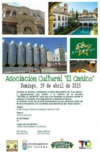 """La Asociación cultural """"El Cañico"""" organiza un viaje a Murcia"""