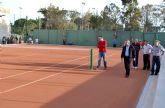 El Polideportivo de Águilas cuenta ya con dos pistas de tenis de tierra batida y un nuevo acceso en su parte norte