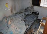 La Guardia Civil detiene a un individuo por incendiar una vivienda con sus moradores en Totana