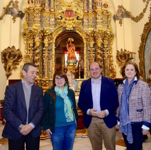 The Altarpiece of the sanctuary of Santa Eulalia de Totana regains its splendor