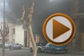 Bomberos del Consorcio intervienen para sofocar el incendio declarado en una vivienda en Totana
