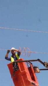 Medio Ambiente realiza la corrección de cuatro apoyos en líneas eléctricas de la ZEPA de las Lagunas de Las Moreras en Mazarrón
