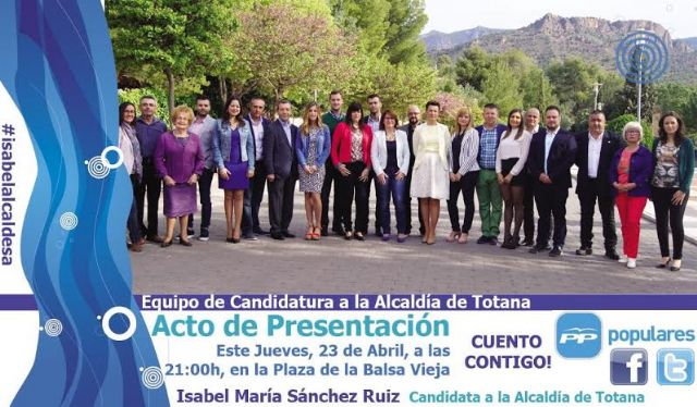 The application of PP will be officially presented Thursday at a rally in Plaza Vieja Balsa
