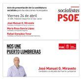 El PSOE de Puerto Lumbreras presenta su candidatura a las próximas elecciones municipales