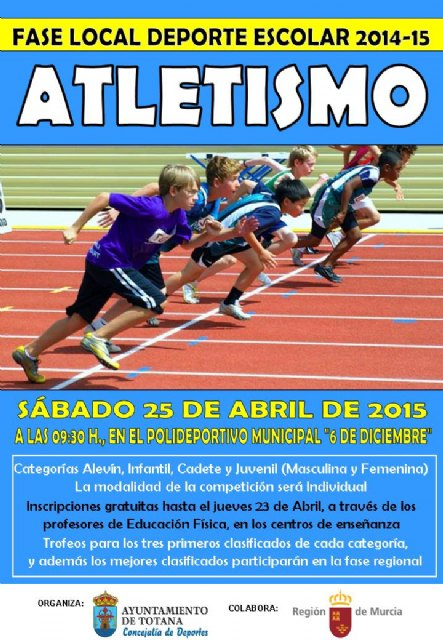 "The Local Phase Athletics School Sports will take place tomorrow at the Sports City ""December 6"""