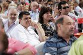 Gabriel Esturillo y José Ignacio Gras, juntos en la presentación de la lista socialista al consistorio murciano