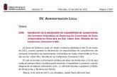 El BORM publica la aprobación de la declaración de imposibilidad de cumplimiento del Convenio Urbanístico C-80