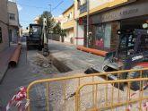 Las obras del colector de la calle Tejera de Ceutí, en marcha