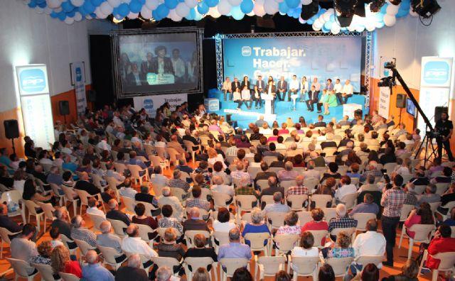 Más de 700 personas en la presentación de la candidatura del Partido Popular de Puerto Lumbreras, encabezada por Mª Ángeles Túnez - 1, Foto 1
