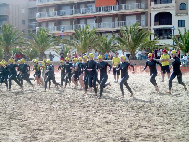 La playa del Rihuete punto de inicio del XXVI triatlón de Fuente Álamo - 2, Foto 2