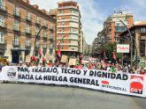 CGT :' 1º de mayo en Murcia. Hacia la huelga general'