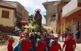 El patrón de la pedanía de Los Torraos de Ceutí salió un año más en romería