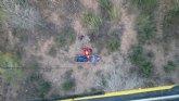 Rescatan a un senderista herido en Sierra del Cabezo Gordo, en Totana