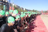 Cerca de mil participantes completaron desde Mazarr�n una nueva edici�n del triatl�n nacional de Fuente �lamo