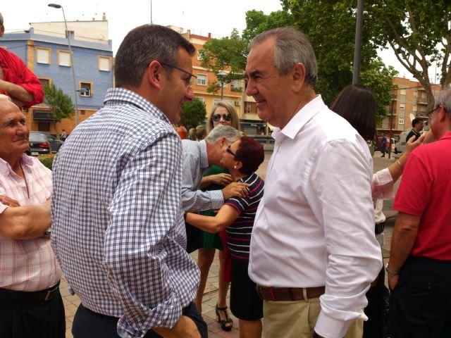 Pedro Sánchez da su apoyo al proyecto socialista de Alhama en un encuentro con el candidato Diego Conesa en Bullas, Foto 5