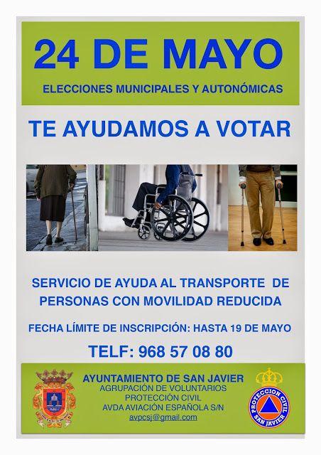 Protección Civil ofrece servicio de transporte a personas con movilidad reducida para poder votar el 24M - 1, Foto 1