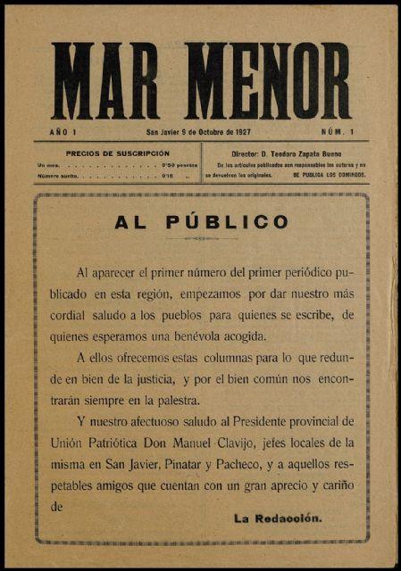 San Javier digitaliza a través del proyecto Carmesí los ejemplares de 3 revistas locales de los años 20 y 30 custodiadas en el archivo municipal - 4, Foto 4