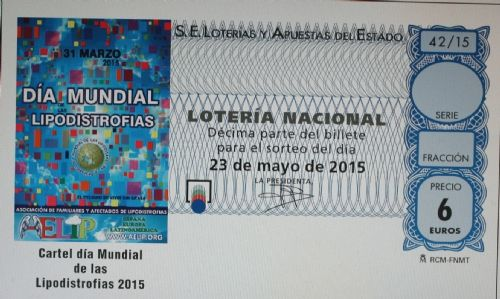 A poster image Lipodistrodias World Day illustrates the tenth draw of the National Lottery on May 23, Foto 1