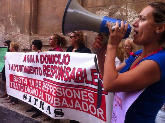 Ahora Murcia denuncia las represalias contra las trabajadoras de Ayuda a Domicilio - 1, Foto 1
