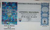 Una imagen del cartel del Día Mundial de las Lipodistrodias ilustra el décimo del sorteo de la Lotería Nacional del próximo 23 de mayo