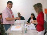 El candidato socialista al Ayuntamiento de Alcantarilla depositó su papeleta a las 10h