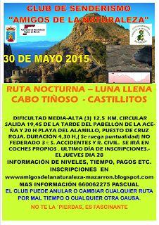 El Club de Senderismo organiza una ruta nocturna en Cabo Tiñoso - 1, Foto 1