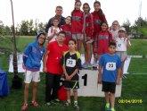 Los colegios Reina Sofía y La Cruz participaron en la Final Regional de Atletismo de Deporte Escolar, celebrada en Lorca