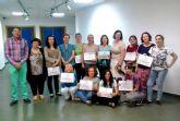Diplomados en Ceutí los alumnos del curso sobre mantenimiento y rehabilitación psicosocial de dependientes en el domicilio