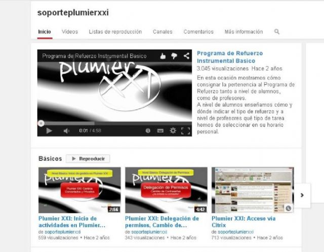 Educación ha publicado ya más de cien vídeotutoriales en el canal de Youtube 'Soporte Plumier' - 1, Foto 1