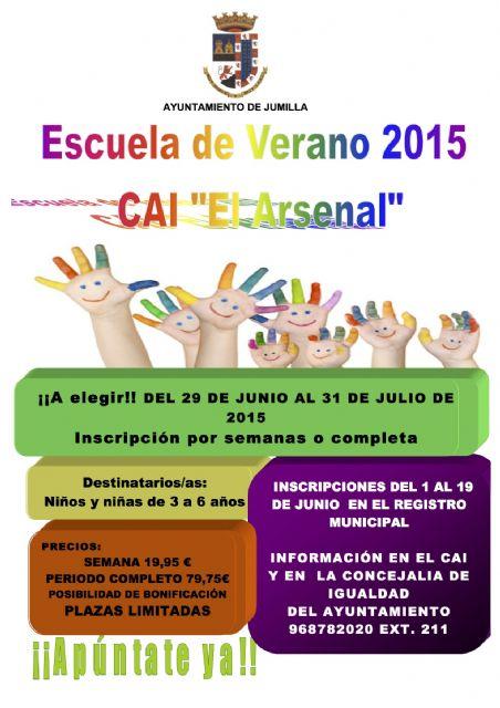 Igualdad oferta la Escuela de Verano 2015 del CAI  para niños y niñas de la localidad - 1, Foto 1
