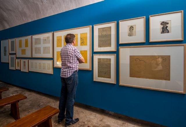Una veintena de dibujos de José María Párraga se exponen en Aledo dentro del proyecto ´Itinerarios´ de Cultura - 1, Foto 1