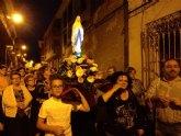 Durante los viernes del mes de mayo la Delegación de Lourdes de Totana ha salido por diferentes calles rezando el Rosario de casa en casa