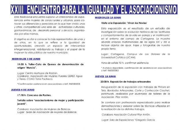 Comienza el 23º Encuentro para la Igualdad y el Asociacionismo de Torre-Pacheco - 2, Foto 2