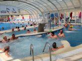 Fin de curso en el balneario de Fortuna para los usuarios del servicio municipal de gerontogimnasia torreño