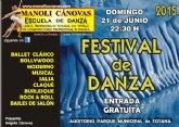 La Escuela de Danza MANOLI CÁNOVAS celebra su FESTIVAL de DANZA de fin de curso el próximo domingo 21 de Junio