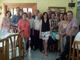 Los mayores de El Albujón homenajean a los concejales populares Antonio Calderón y Nicolás Ángel Bernal