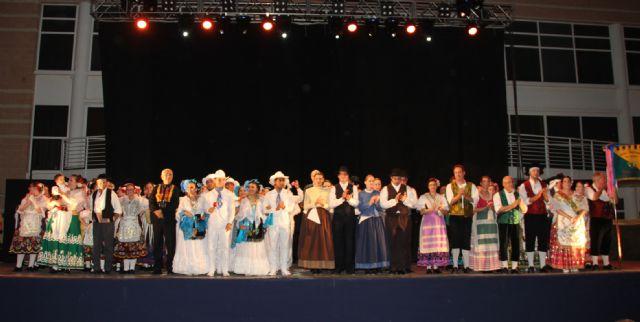 Puerto Lumbreras celebró su gran noche de folklore con grupos de Eslovenia, México, y Murcia - 2, Foto 2