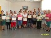 Clausura y entrega de diplomas a las alumnas participantes en el programa municipal de Gimnasia para Mayores en El Paretón