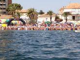 Más de 400 nadadores en la XIII Travesía Playas de San Javier y III Travesía Popular