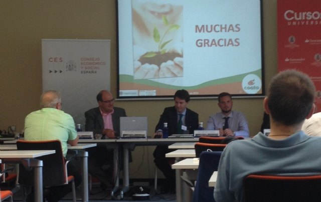 COATO president, speaker at the summer courses of El Escorial