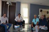 El Alcalde recibió a la nueva directiva del Santiago de la Ribera F.C