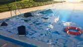 Unos desconocidos realizan actos vandálicos en las piscinas del Complejo Deportivo 'Valle del Guadalentín', en la pedanía de El Paretón-Cantareros.